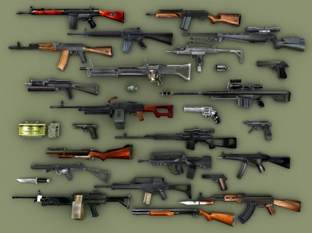 Armas de fogo!