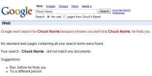 Google com medo de Chuck Norris